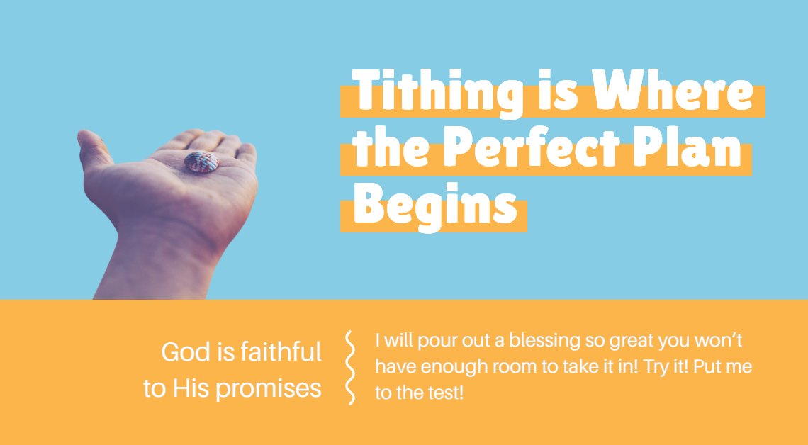 Tithing is Where the Perfect Plan Begins